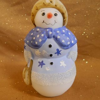 Fenton Glass Hand Painted SnowLady