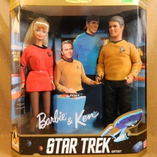 Ken and Barbie Star Trek Gift Set