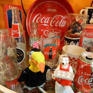 Vintage Coca-Cola Memorabilia Glasses and Collectibles in Marion Iowa