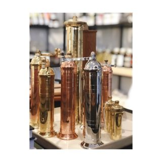 Copper Chrome & Brass Pepper Mills