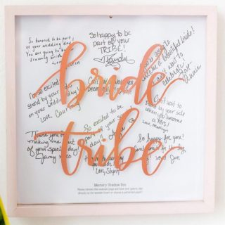 Bride Tribe Memory Shadow Box