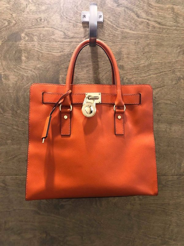Michael Kors Hamilton Large Orange/Gold Hardware Saffiano Leather Tote