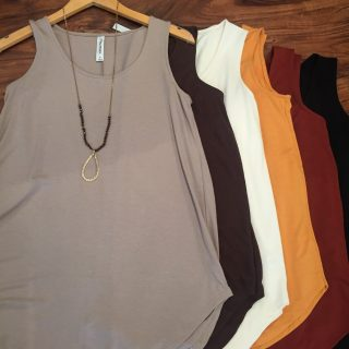 Super Soft Basic Tanks - Fall Colors