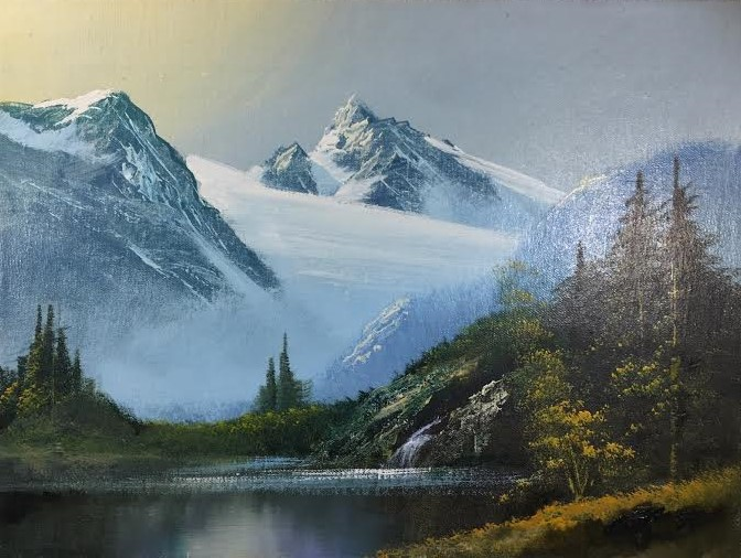 Mountain Storm Oil On Canvas Painting