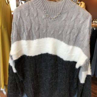 Fuzzy Mixed Gray Sweater