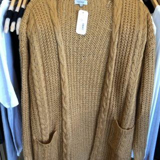 Long Comfy Cardigan in Dark Mustard