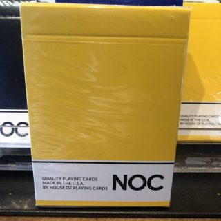 NOC Yellow Playing CArds