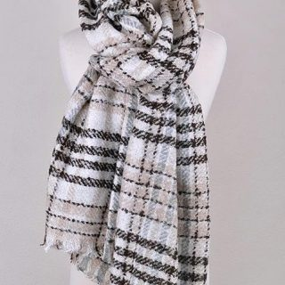CRAZY FOR YOU Plaid Scarf
