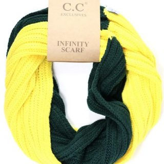 Green & Yellow CC Infinity Scarf