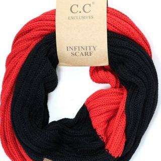 Black & Red CC Infinity Scarf