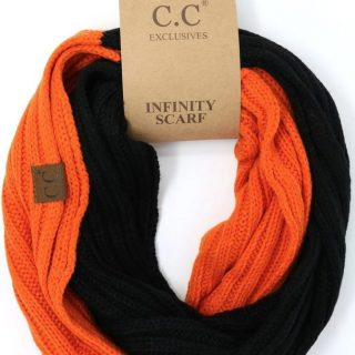 Orange & Black CC Infinity Scarf